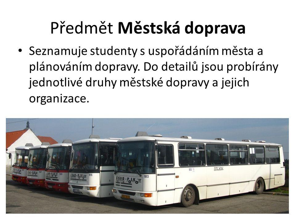 Předmět Městská doprava