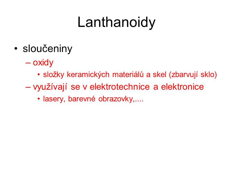 Lanthanoidy sloučeniny oxidy