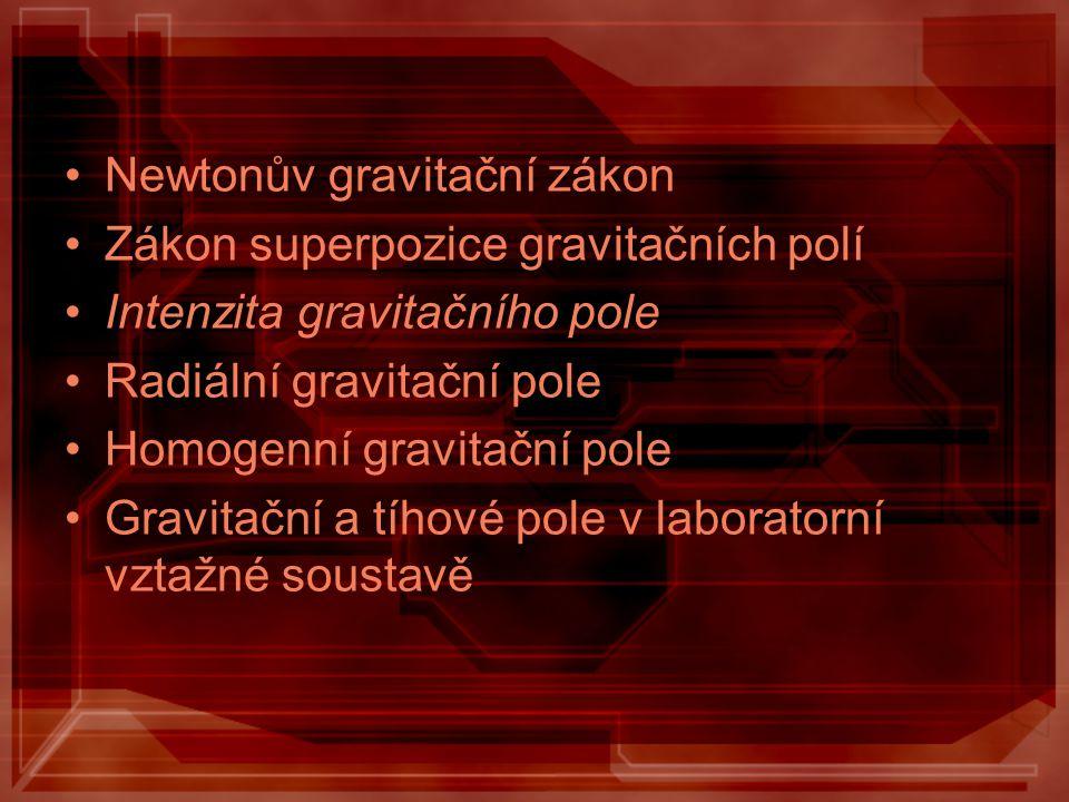 Newtonův gravitační zákon