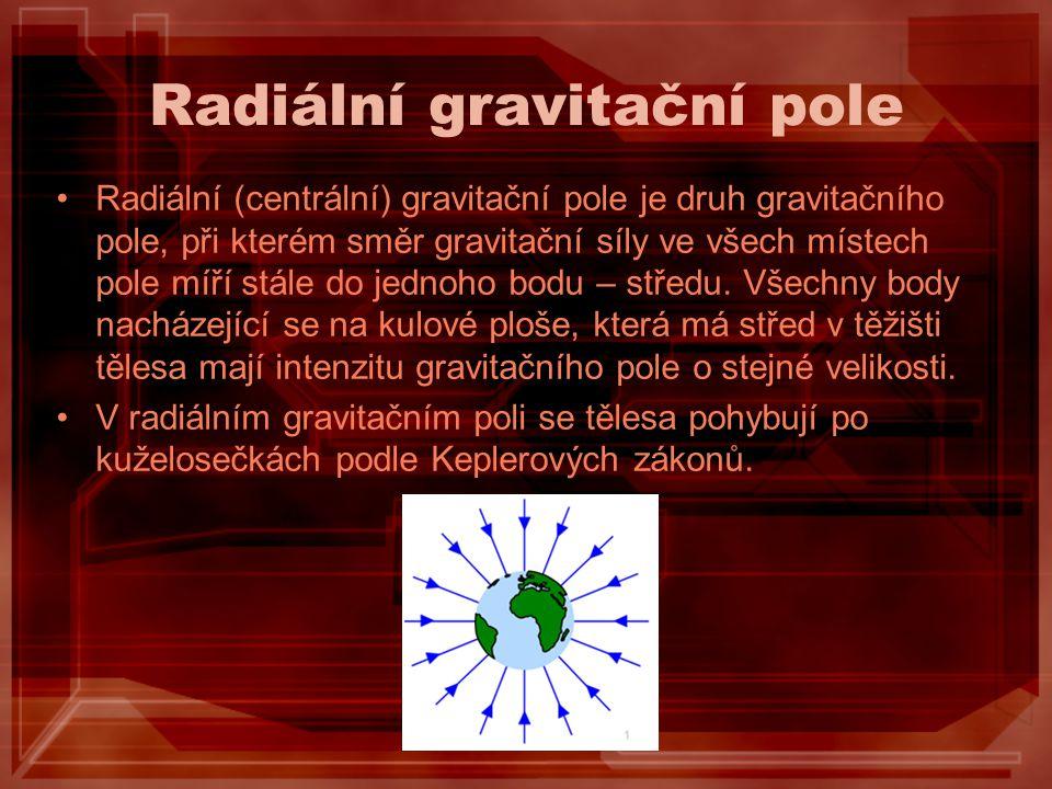 Radiální gravitační pole