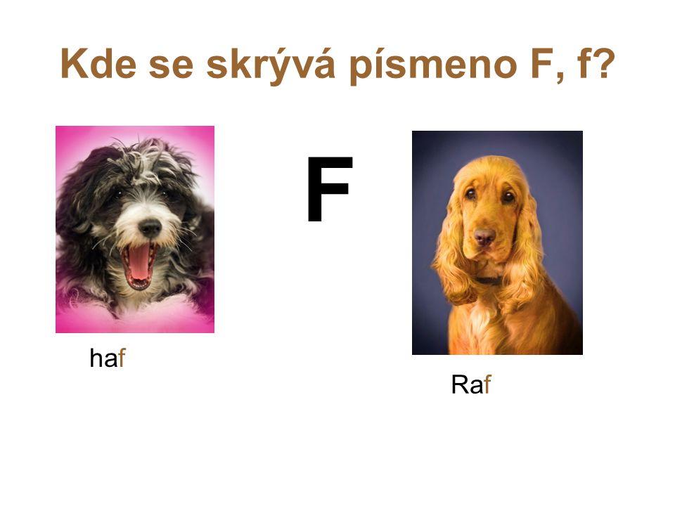 Kde se skrývá písmeno F, f