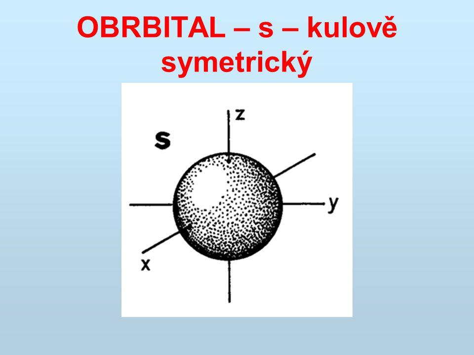 OBRBITAL – s – kulově symetrický