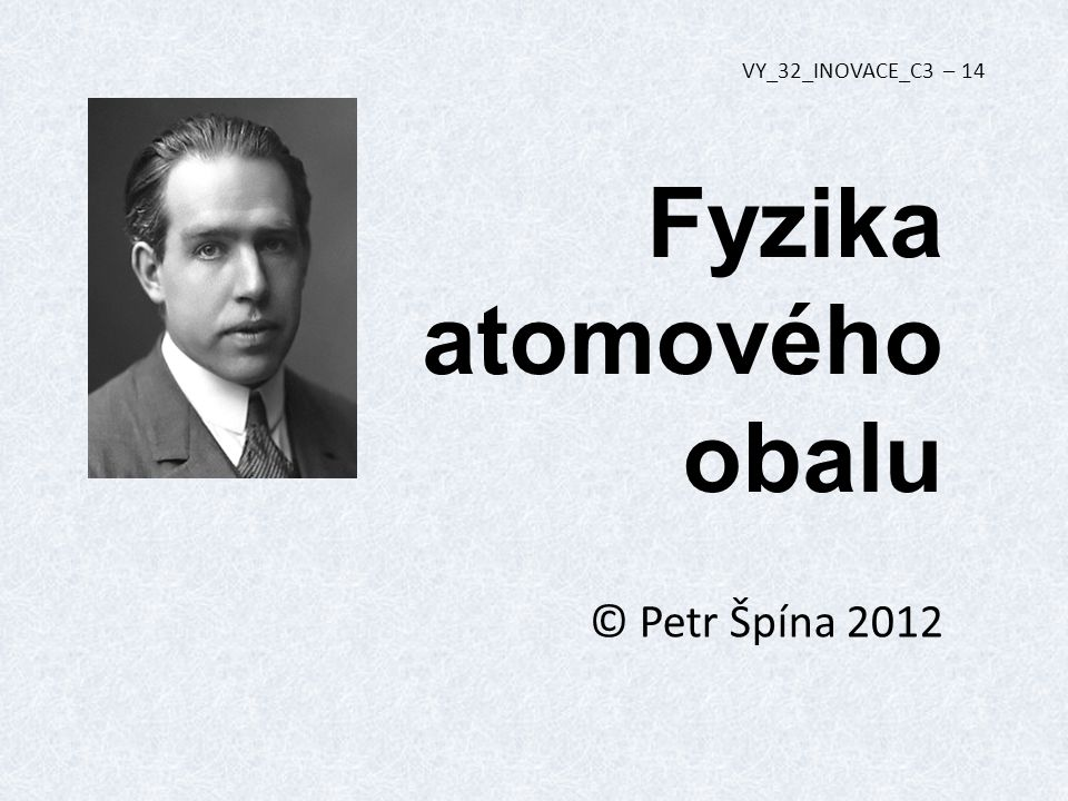Fyzika atomového obalu