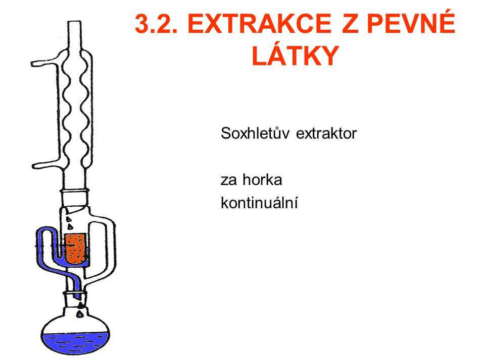 Soxhletův extraktor za horka kontinuální