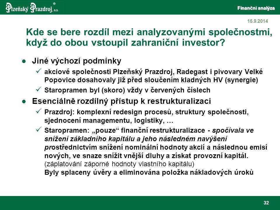 6.4.2017 Kde se bere rozdíl mezi analyzovanými společnostmi, když do obou vstoupil zahraniční investor