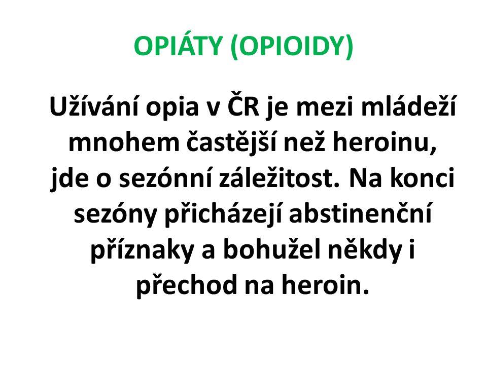 OPIÁTY (OPIOIDY)