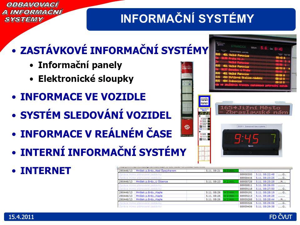 INFORMAČNÍ SYSTÉMY ZASTÁVKOVÉ INFORMAČNÍ SYSTÉMY INFORMACE VE VOZIDLE