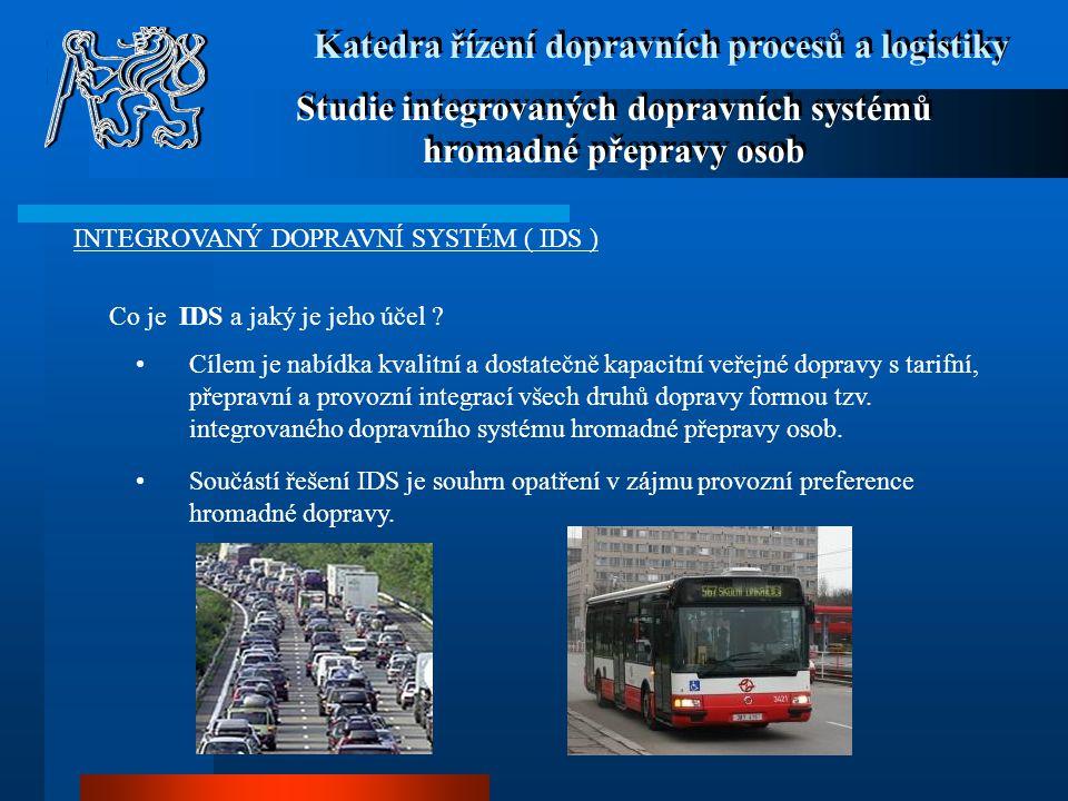 Studie integrovaných dopravních systémů hromadné přepravy osob