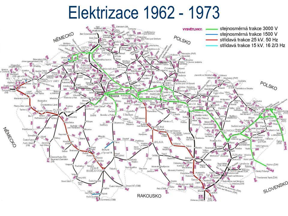 Elektrizace 1962 - 1973