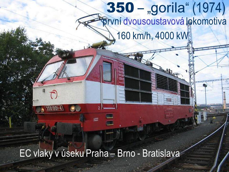 """350 – """"gorila (1974) první dvousoustavová lokomotiva"""