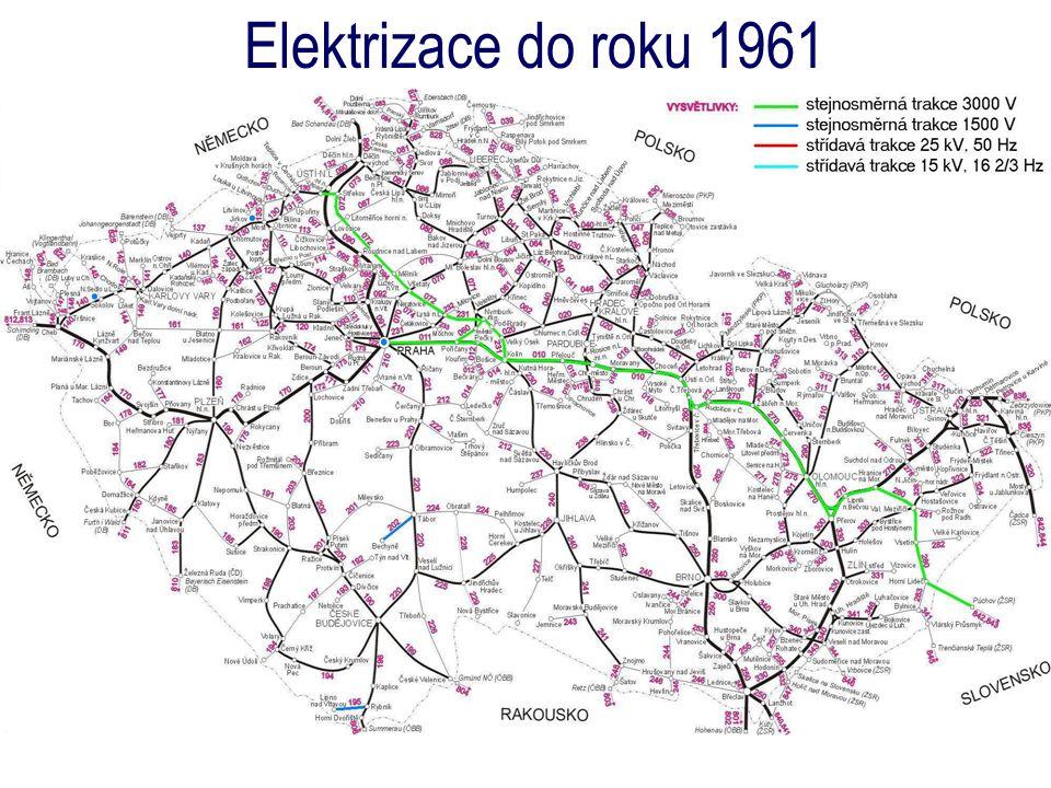 Elektrizace do roku 1961