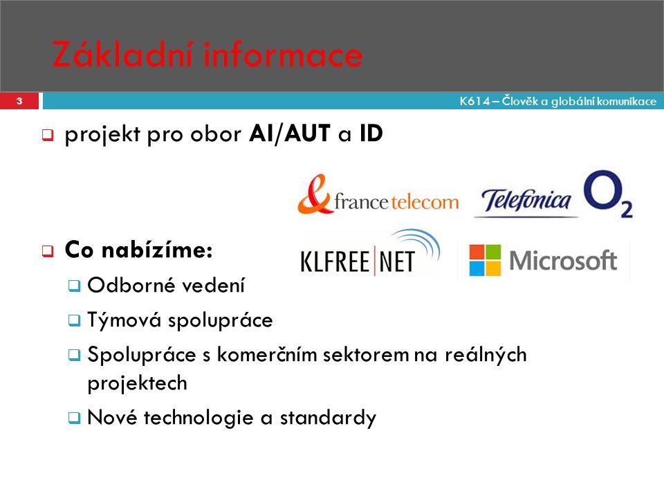 Základní informace projekt pro obor AI/AUT a ID Co nabízíme: