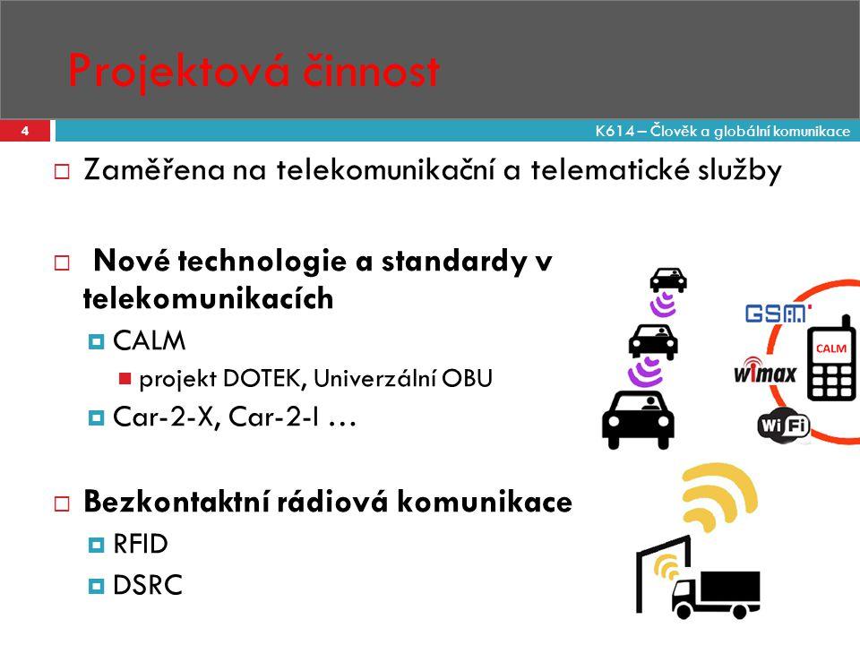 Projektová činnost Zaměřena na telekomunikační a telematické služby