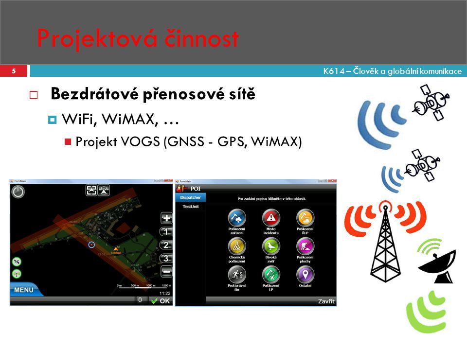 Projektová činnost Bezdrátové přenosové sítě WiFi, WiMAX, …