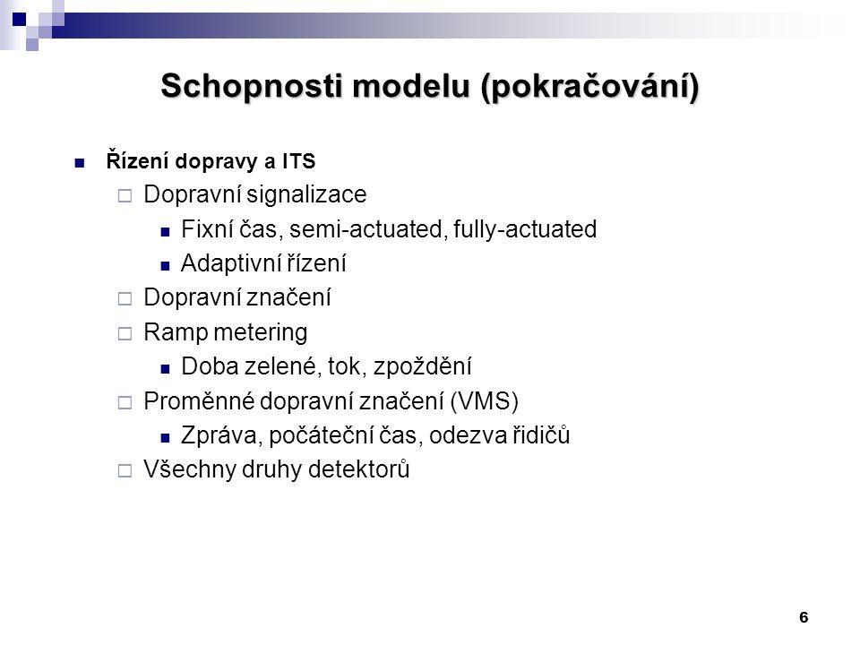 Schopnosti modelu (pokračování)