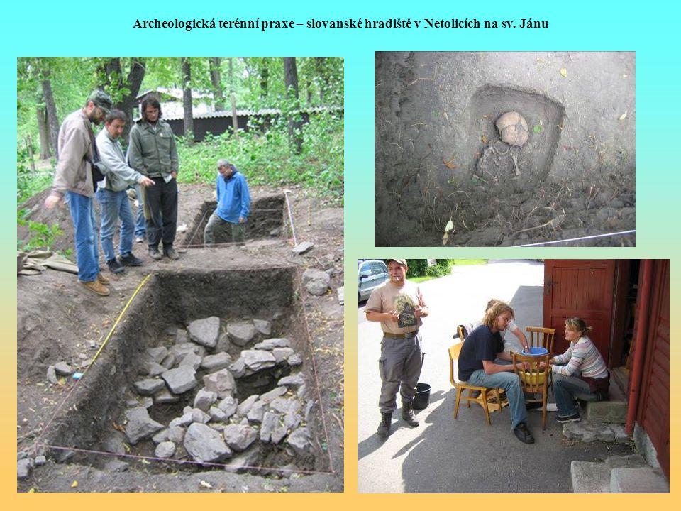 Archeologická terénní praxe – slovanské hradiště v Netolicích na sv