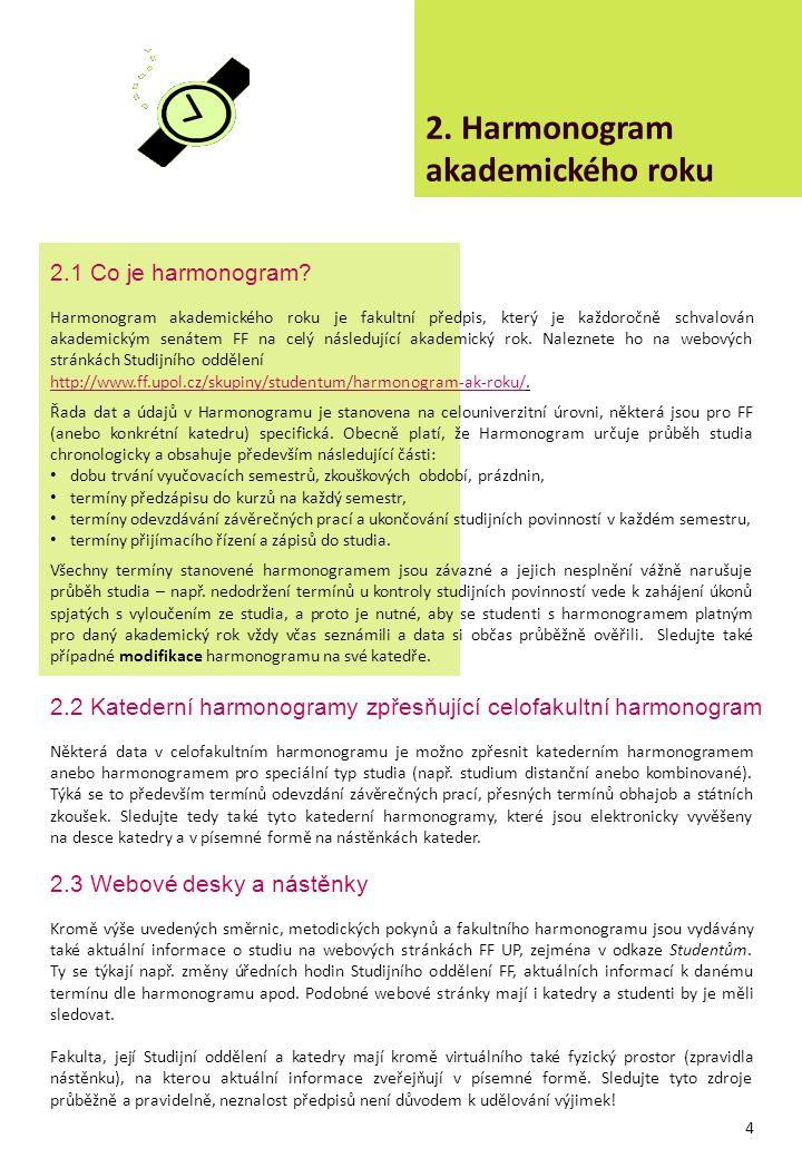 2. Harmonogram akademického roku