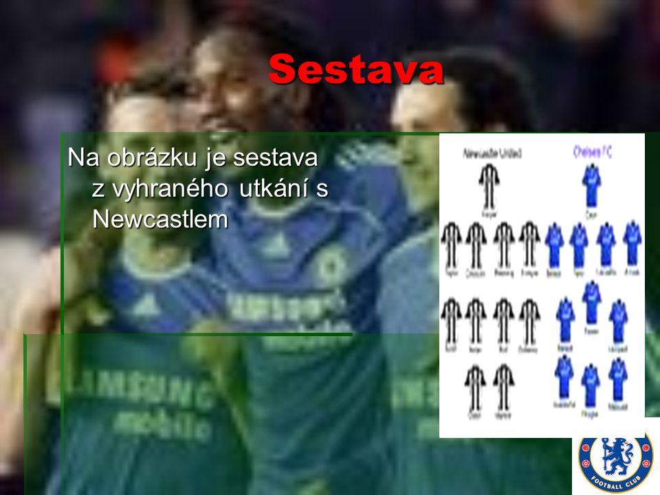 Sestava Na obrázku je sestava z vyhraného utkání s Newcastlem