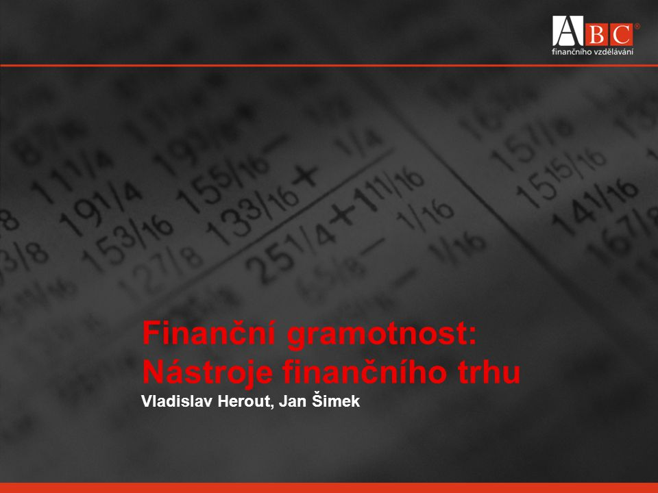 Nástroje finančního trhu