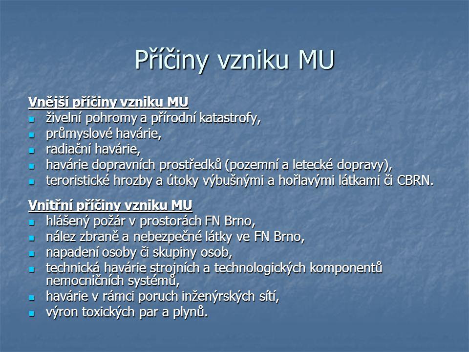 Příčiny vzniku MU Vnější příčiny vzniku MU