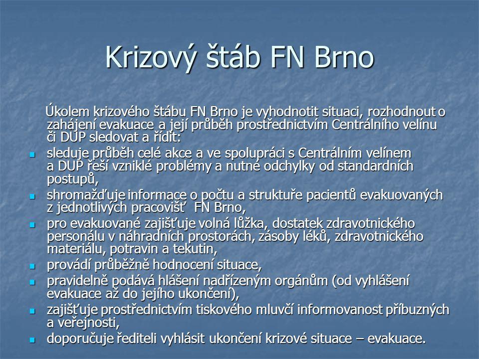 Krizový štáb FN Brno