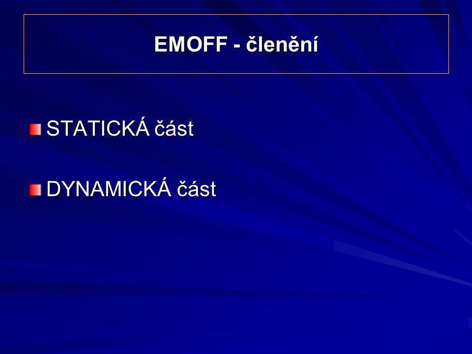 EMOFF - členění STATICKÁ část DYNAMICKÁ část