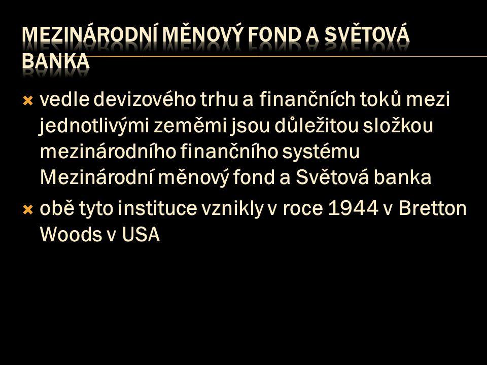 mezinárodní měnový fond a světová banka