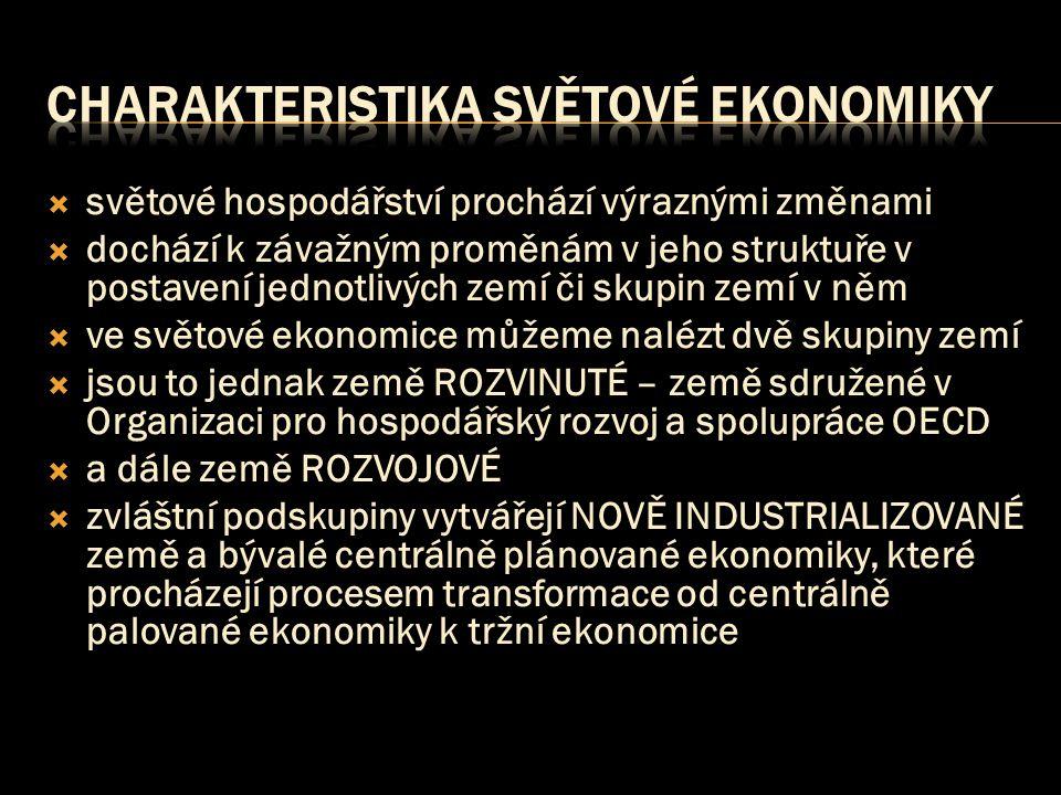 charakteristika světové ekonomiky