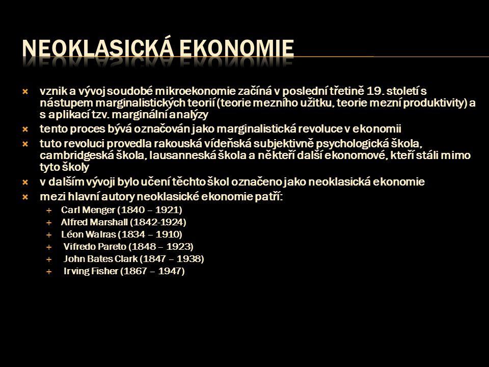 Neoklasická ekonomie