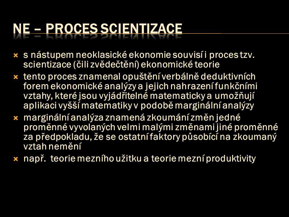 NE – proces scientizace