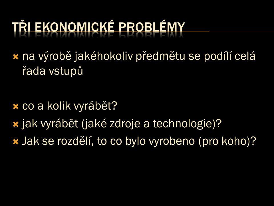 Tři ekonomické problémy