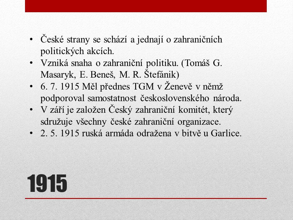 České strany se schází a jednají o zahraničních politických akcích.