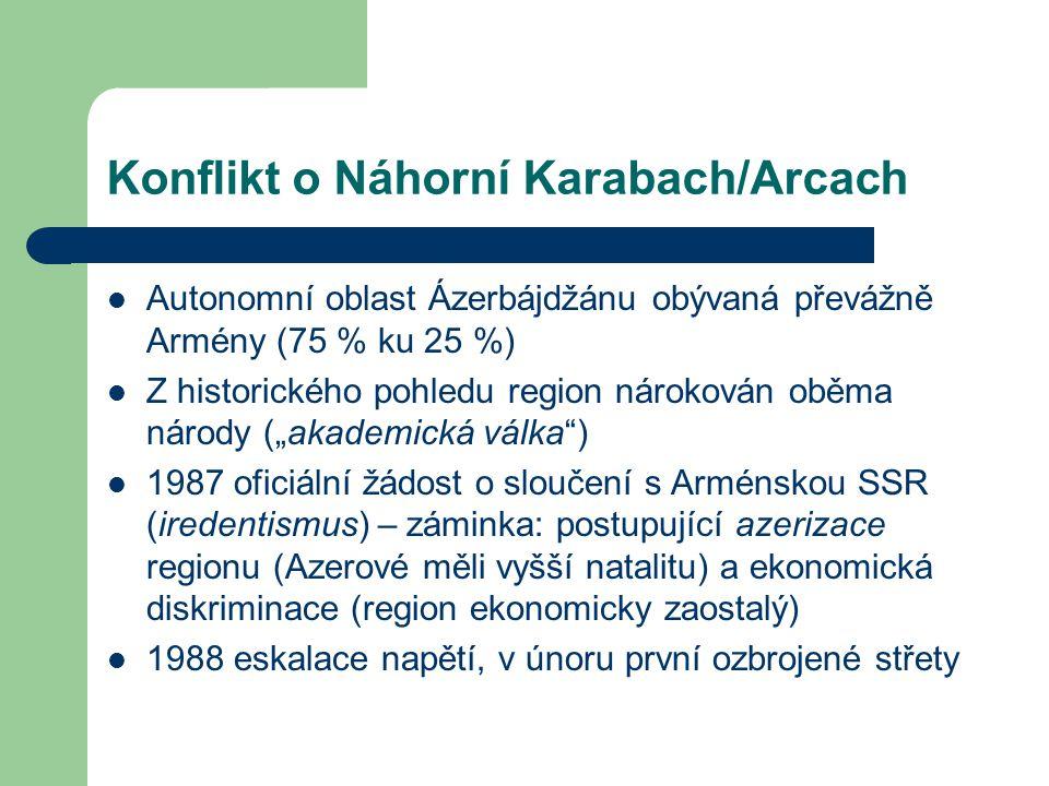 Konflikt o Náhorní Karabach/Arcach