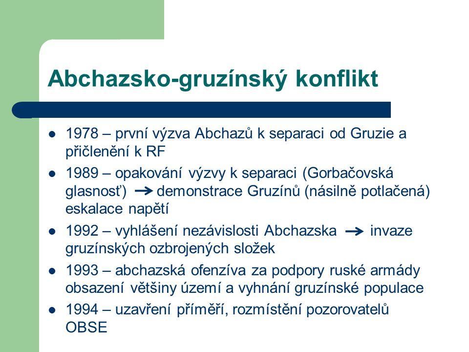 Abchazsko-gruzínský konflikt