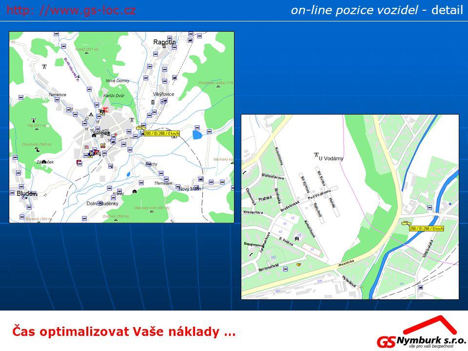 http: //www.gs-loc.cz on-line pozice vozidel - detail Čas optimalizovat Vaše náklady …