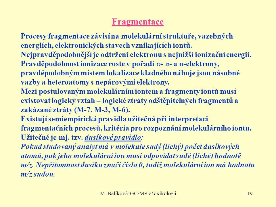 M. Balíková: GC-MS v toxikologii