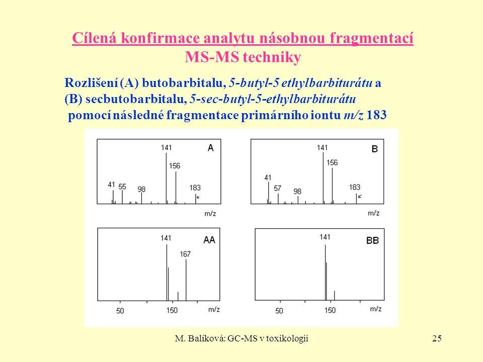 Cílená konfirmace analytu násobnou fragmentací