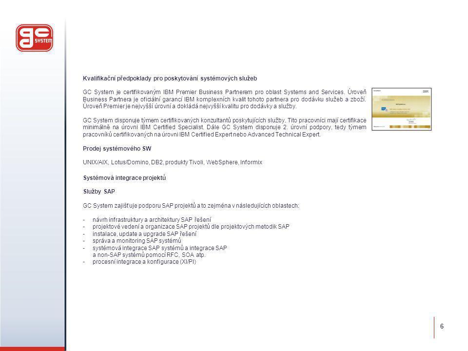6 Kvalifikační předpoklady pro poskytování systémových služeb