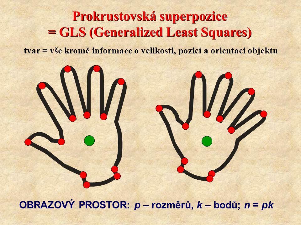 Prokrustovská superpozice = GLS (Generalized Least Squares)
