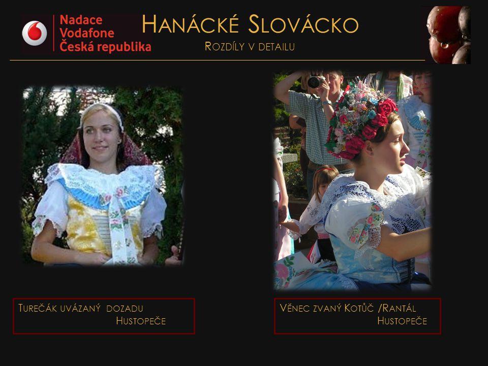 Hanácké Slovácko Rozdíly v detailu