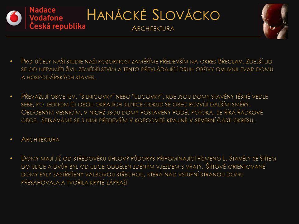 Hanácké Slovácko Architektura