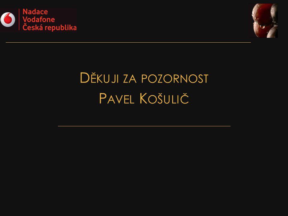 Děkuji za pozornost Pavel Košulič