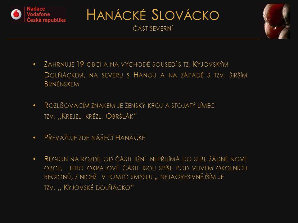 Hanácké Slovácko část severní