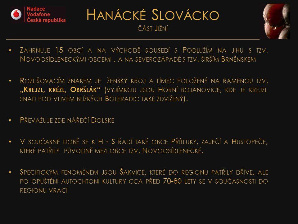 Hanácké Slovácko část Jižní