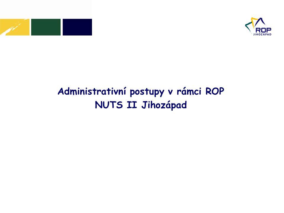 Administrativní postupy v rámci ROP