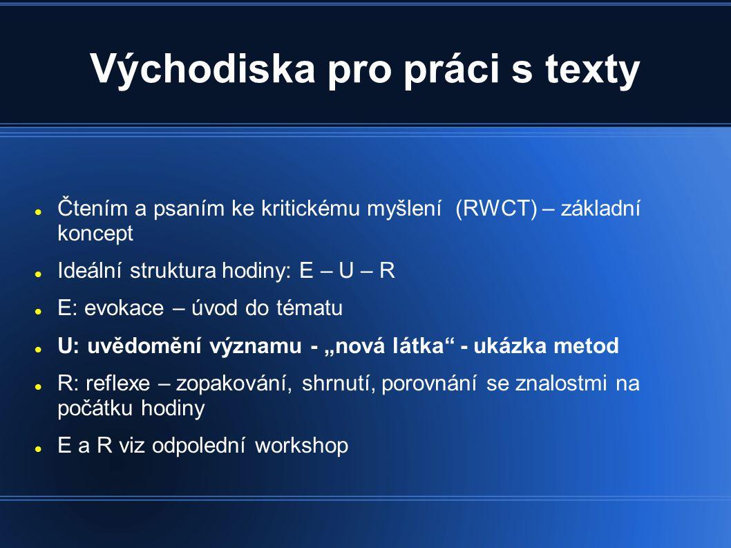 Východiska pro práci s texty