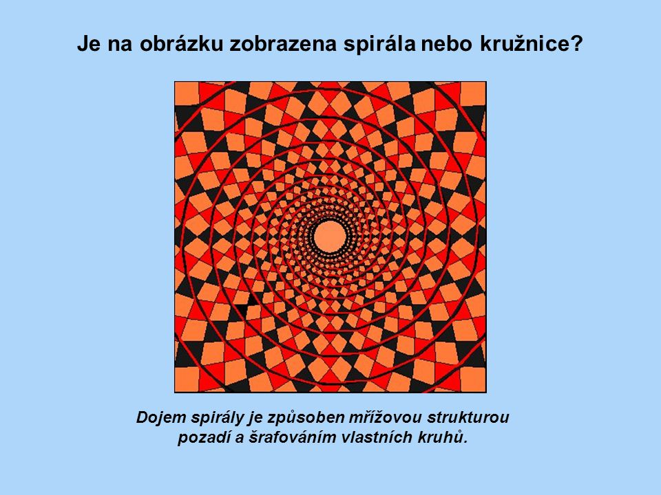 Je na obrázku zobrazena spirála nebo kružnice