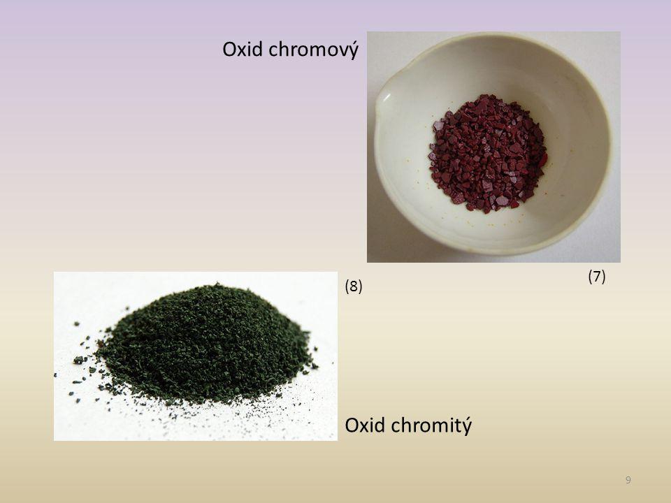 Oxid chromový (7) (8) Oxid chromitý