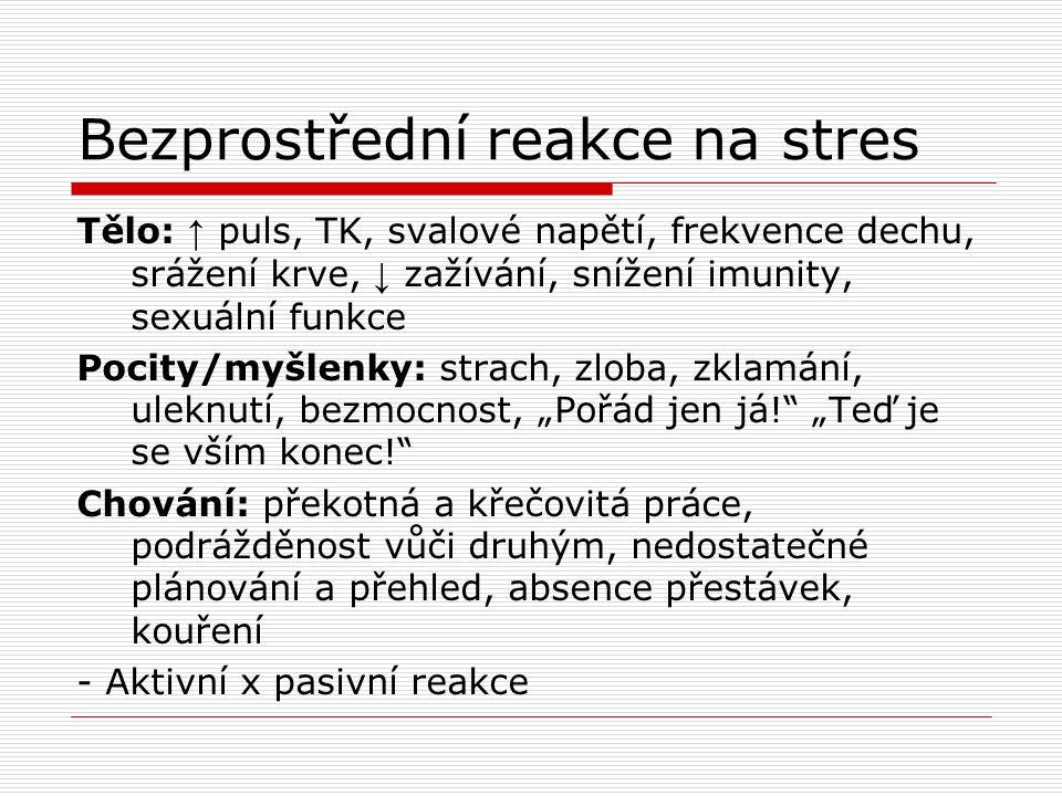 Bezprostřední reakce na stres