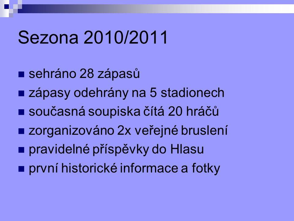 Sezona 2010/2011 sehráno 28 zápasů zápasy odehrány na 5 stadionech
